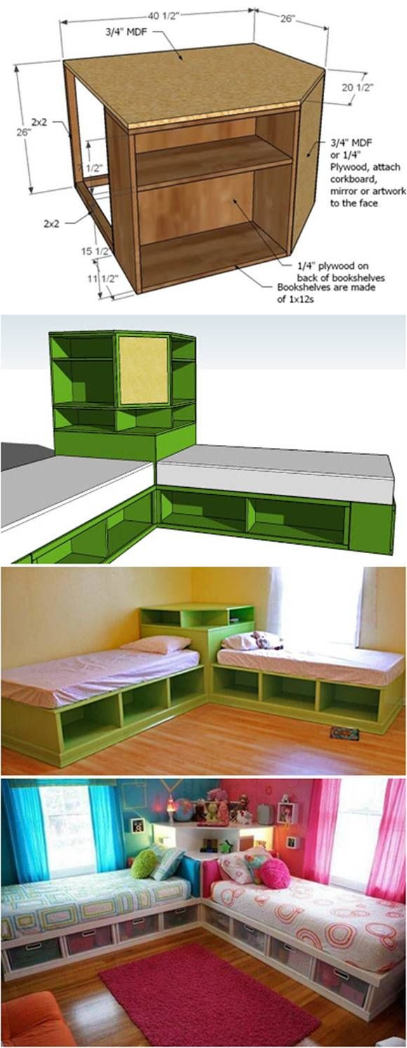Best ideas about DIY Kids Bed With Storage . Save or Pin How to DIY Corner Unit for the Twin Storage Bed Now.