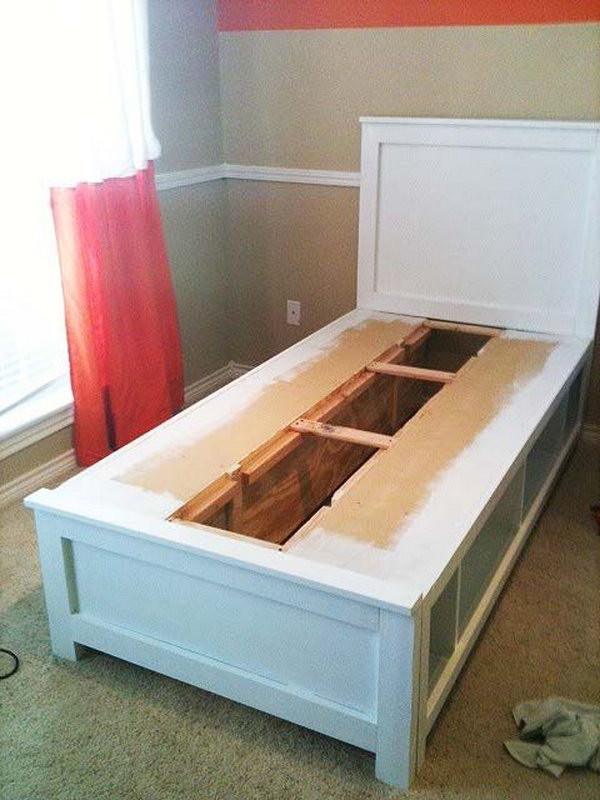 Best ideas about DIY Kids Bed With Storage . Save or Pin Creative Under Bed Storage Ideas for Bedroom Hative Now.