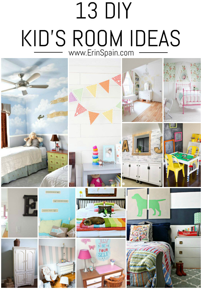 Best ideas about DIY Kids Bedroom Ideas . Save or Pin 13 DIY Kid s Room Ideas Erin Spain Now.