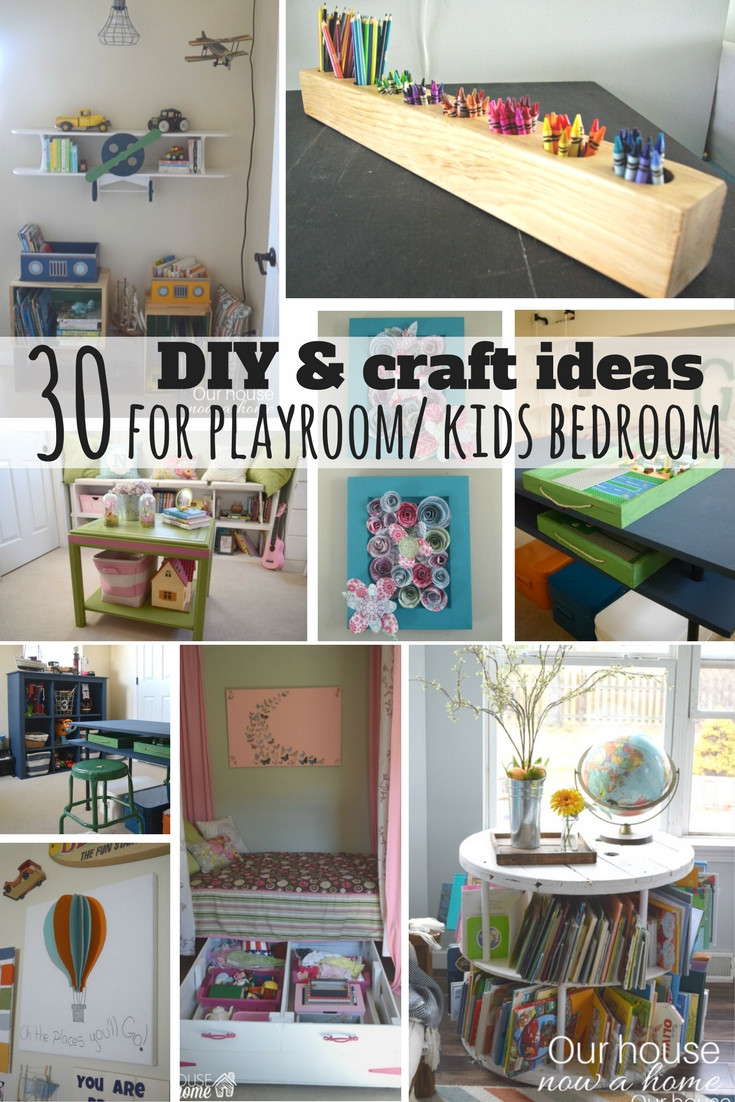 Best ideas about DIY Kids Bedrooms . Save or Pin 30 DIY and Craft decorating ideas for a playroom or kid s Now.