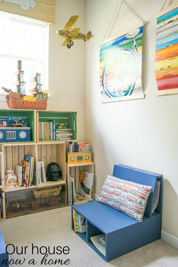 Best ideas about DIY Kids Bedrooms . Save or Pin DIY wooden crate bookshelf making the perfect kids Now.