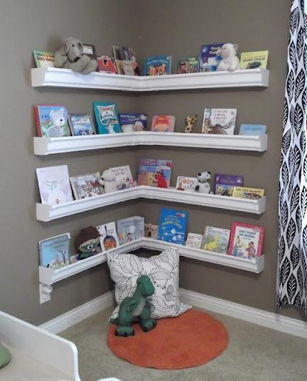 Best ideas about DIY Kids Bookcase . Save or Pin Rain Gutter Bookshelves Children s Bookshelves Now.