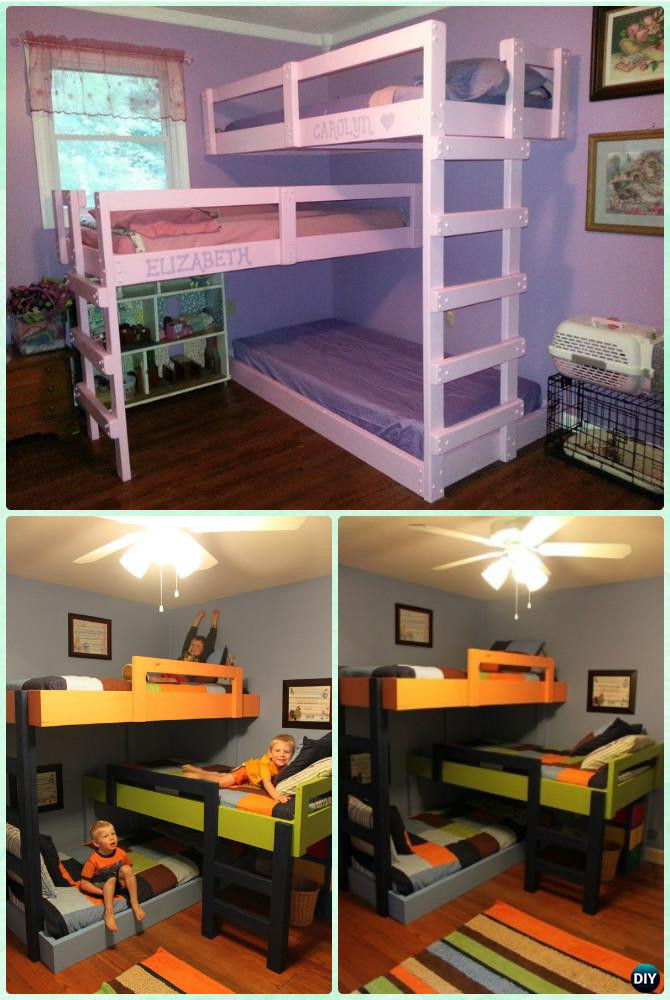 Best ideas about DIY Kids Bunk Bed . Save or Pin DIY Kids Bunk Bed Free Plans [Picture Instructions] Now.