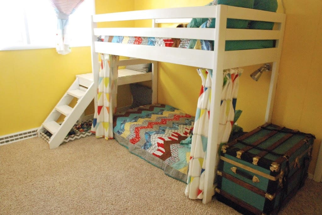 Best ideas about DIY Kids Bunk Beds . Save or Pin DIY Kids Loft Bunk Bed with Stairs Now.