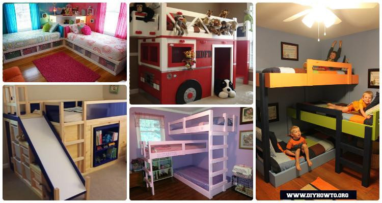 Best ideas about DIY Kids Bunk Beds . Save or Pin DIY Kids Bunk Bed Free Plans [Picture Instructions] Now.