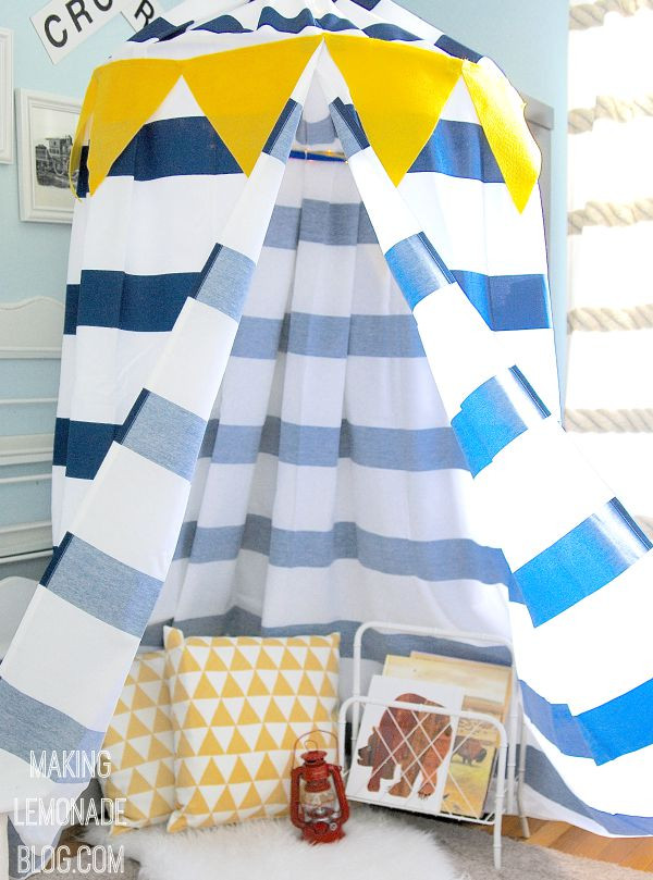 Best ideas about DIY Kids Canopy . Save or Pin Make a DIY No Sew Kids' Play Canopy Tent… in an hour Now.