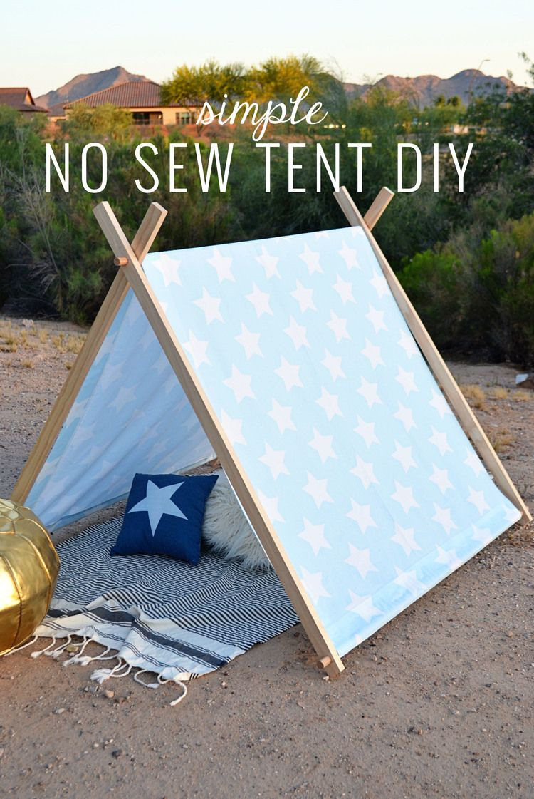 Best ideas about DIY Kids Canopy . Save or Pin Simple No Sew Kid s Tent DIY sweet ava Now.