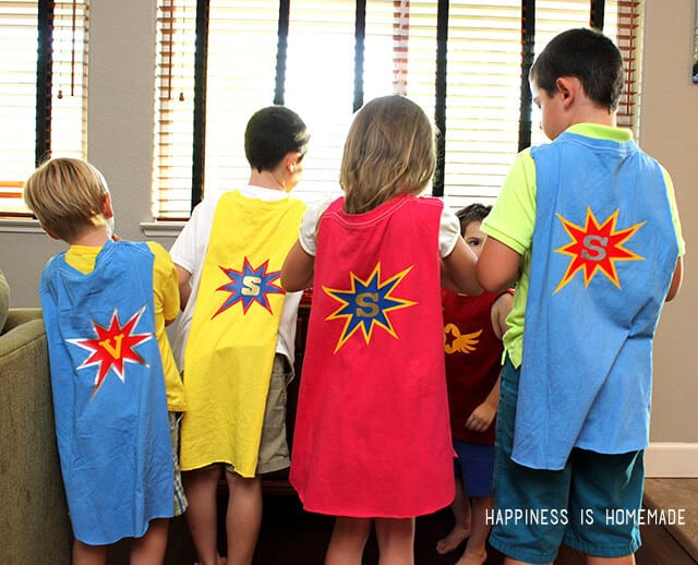 Best ideas about DIY Kids Cape . Save or Pin DIY Personalized Superhero Cape from a T Shirt Happiness Now.