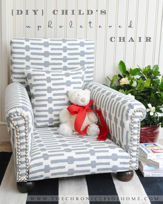 Best ideas about DIY Kids Chair . Save or Pin DIY Child s Upholstered Chair The Chronicles of Home Now.
