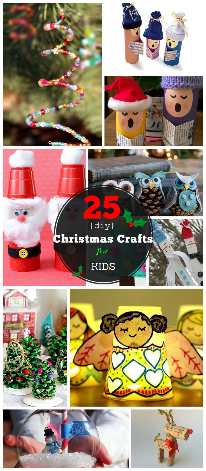 Best ideas about DIY Kids Christmas Craft . Save or Pin 30 Christmas Crafts For Kids to Make DIY Now.