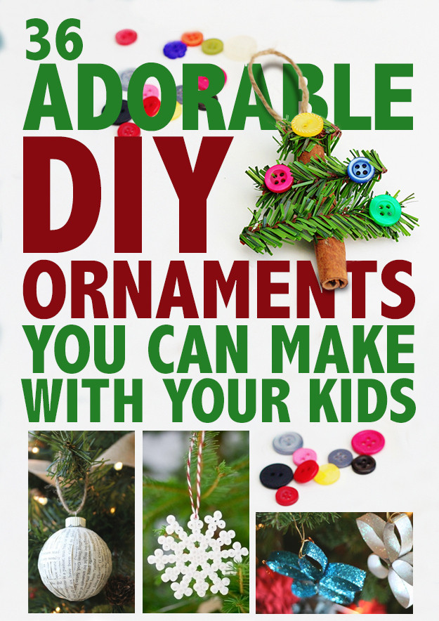 Best ideas about DIY Kids Christmas Ornaments . Save or Pin 36 Adorable DIY Ornaments You Can Make With The Kids Now.