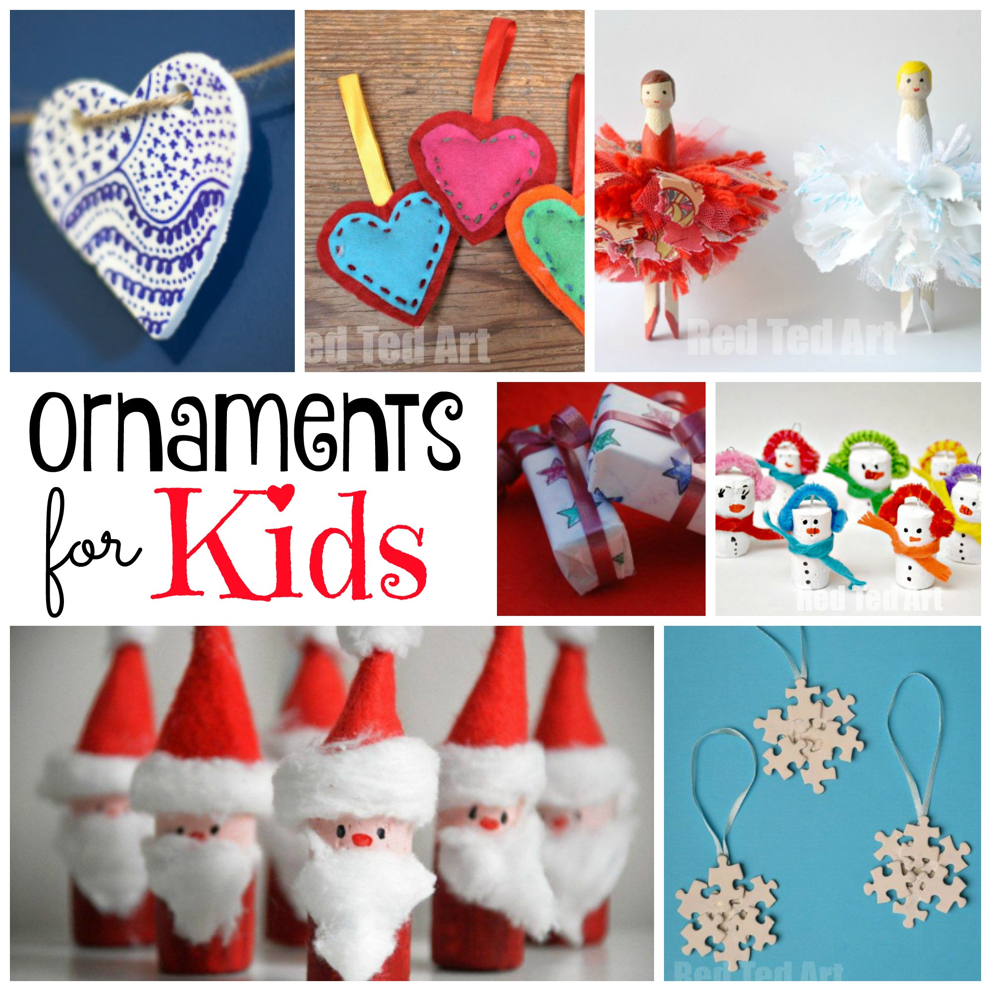 Best ideas about DIY Kids Christmas Ornaments . Save or Pin DIY Christmas Ornaments Red Ted Art s Blog Now.