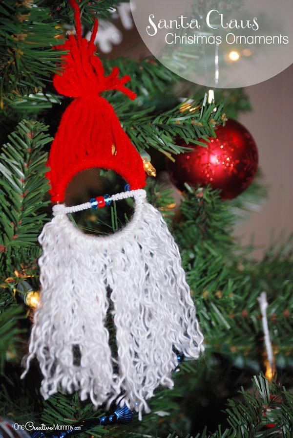 Best ideas about DIY Kids Christmas Ornaments . Save or Pin Homemade Christmas Ornaments for Kids Santa Now.
