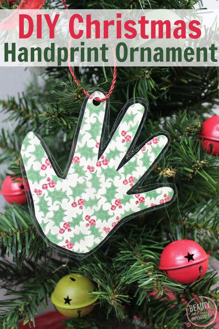 Best ideas about DIY Kids Christmas Ornaments . Save or Pin DIY Handprint Keepsake Christmas Ornament Beauty through Now.