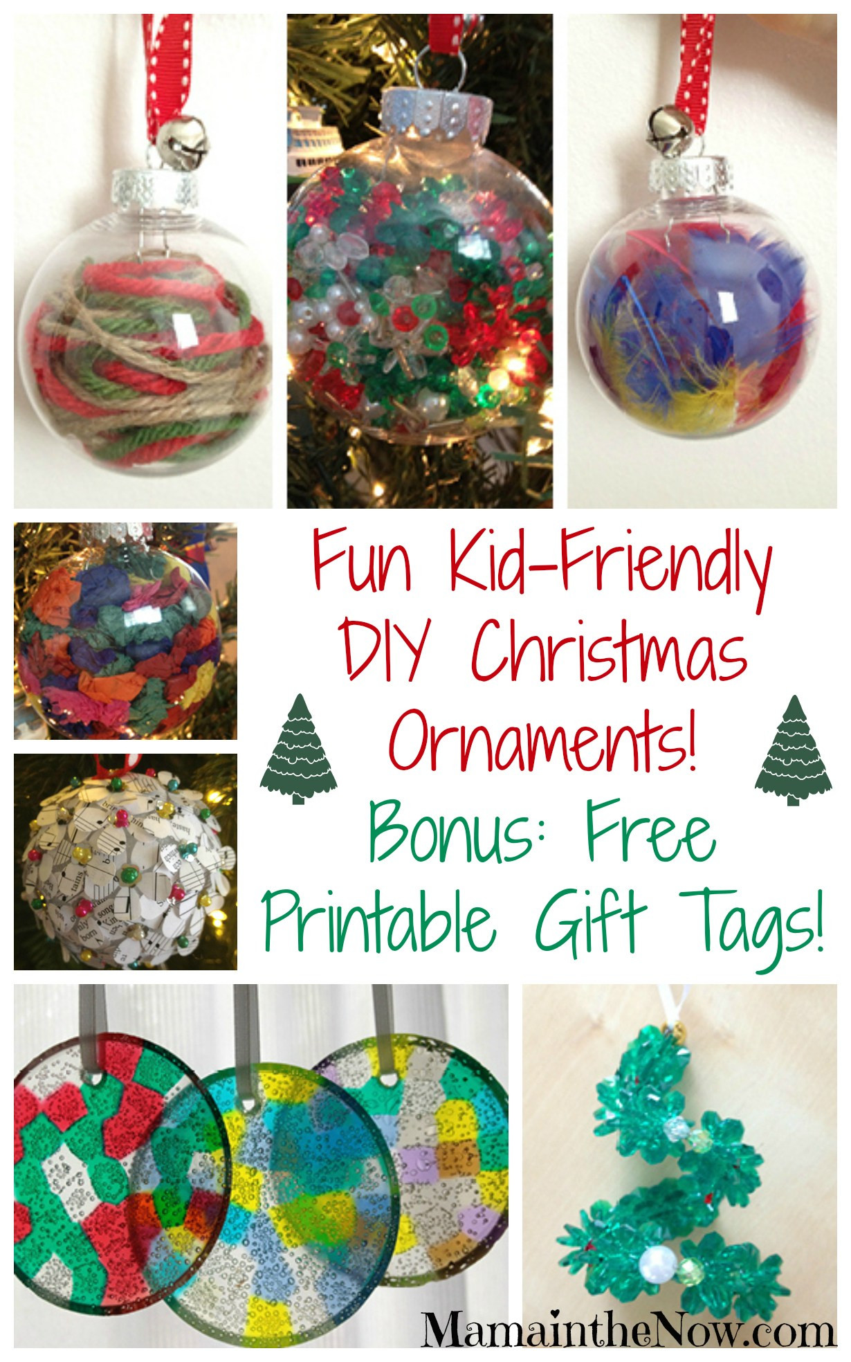 Best ideas about DIY Kids Christmas Ornaments . Save or Pin Easy Kid Friendly DIY Christmas Ornaments Now.