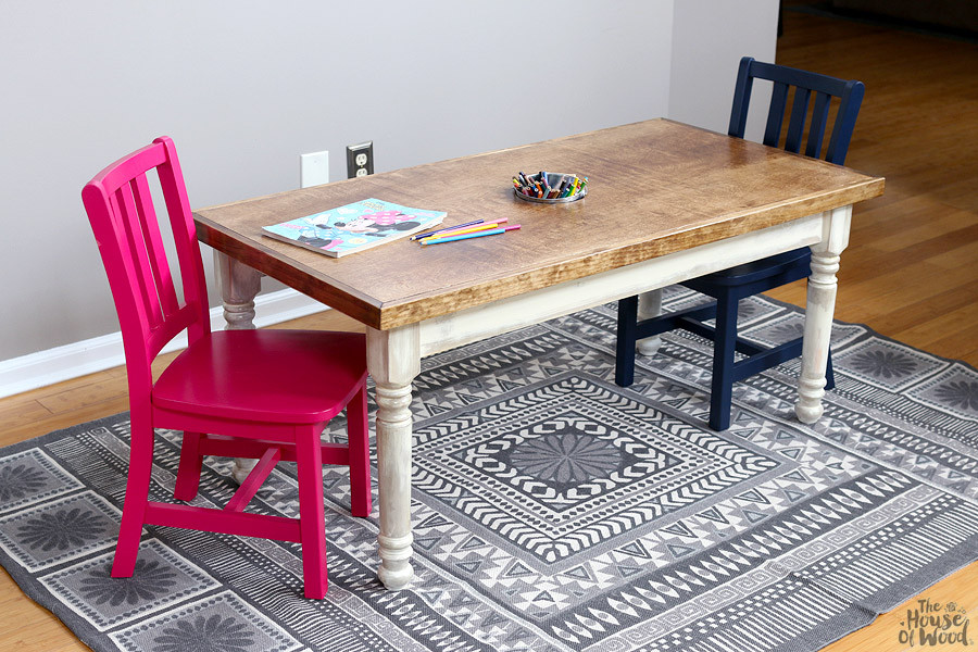 Best ideas about DIY Kids Craft Table . Save or Pin Kids Farmhouse Table Now.