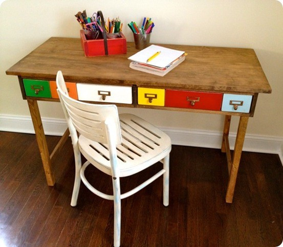 Best ideas about DIY Kids Desks . Save or Pin Library Catalog Desk Now.