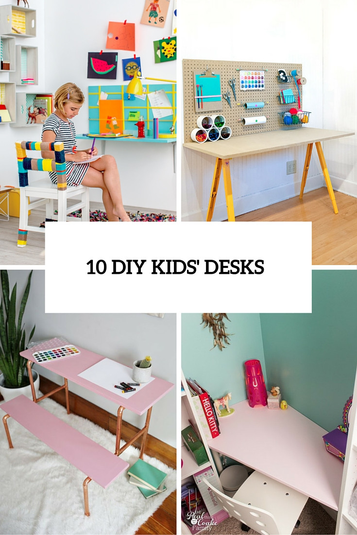 Best ideas about DIY Kids Desks . Save or Pin 10 DIY Kids' Desks For Art Craft And Studying Shelterness Now.
