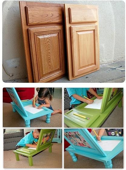 Best ideas about DIY Kids Desks . Save or Pin DIY Art Desk For Kids Made From Cupboard Doors Now.