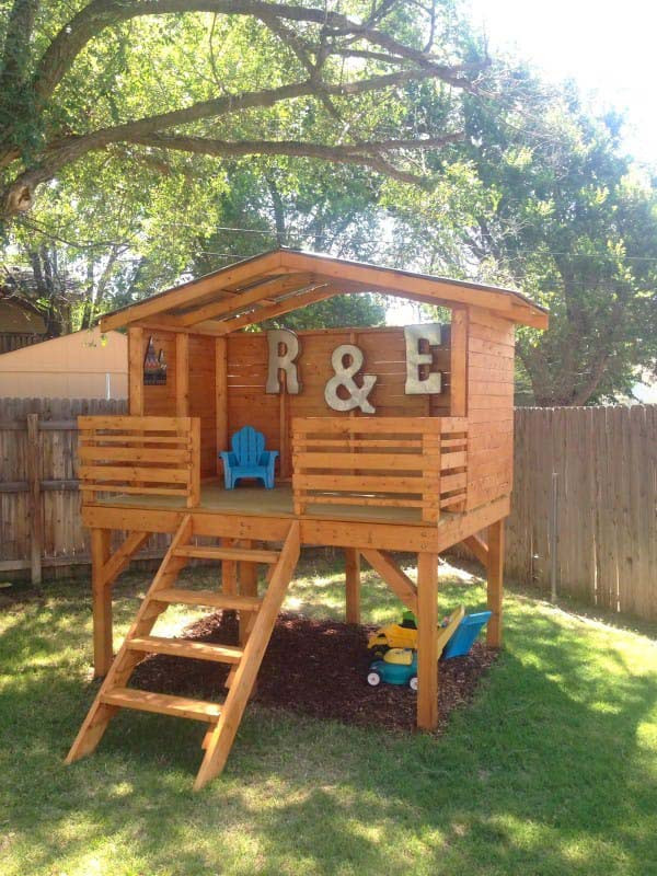 Best ideas about DIY Kids Fort . Save or Pin 16 Creative Kids Wooden Playhouses Designs For Your Yard Now.