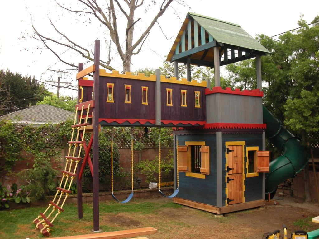 Best ideas about DIY Kids Fort . Save or Pin Castle Playhouse on Pinterest Now.