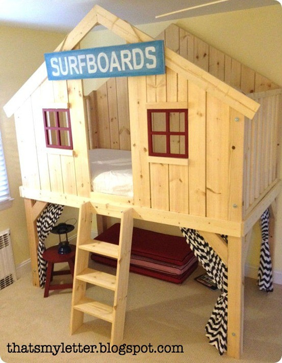 Best ideas about DIY Kids Fort . Save or Pin Kids Clubhouse Bed Now.