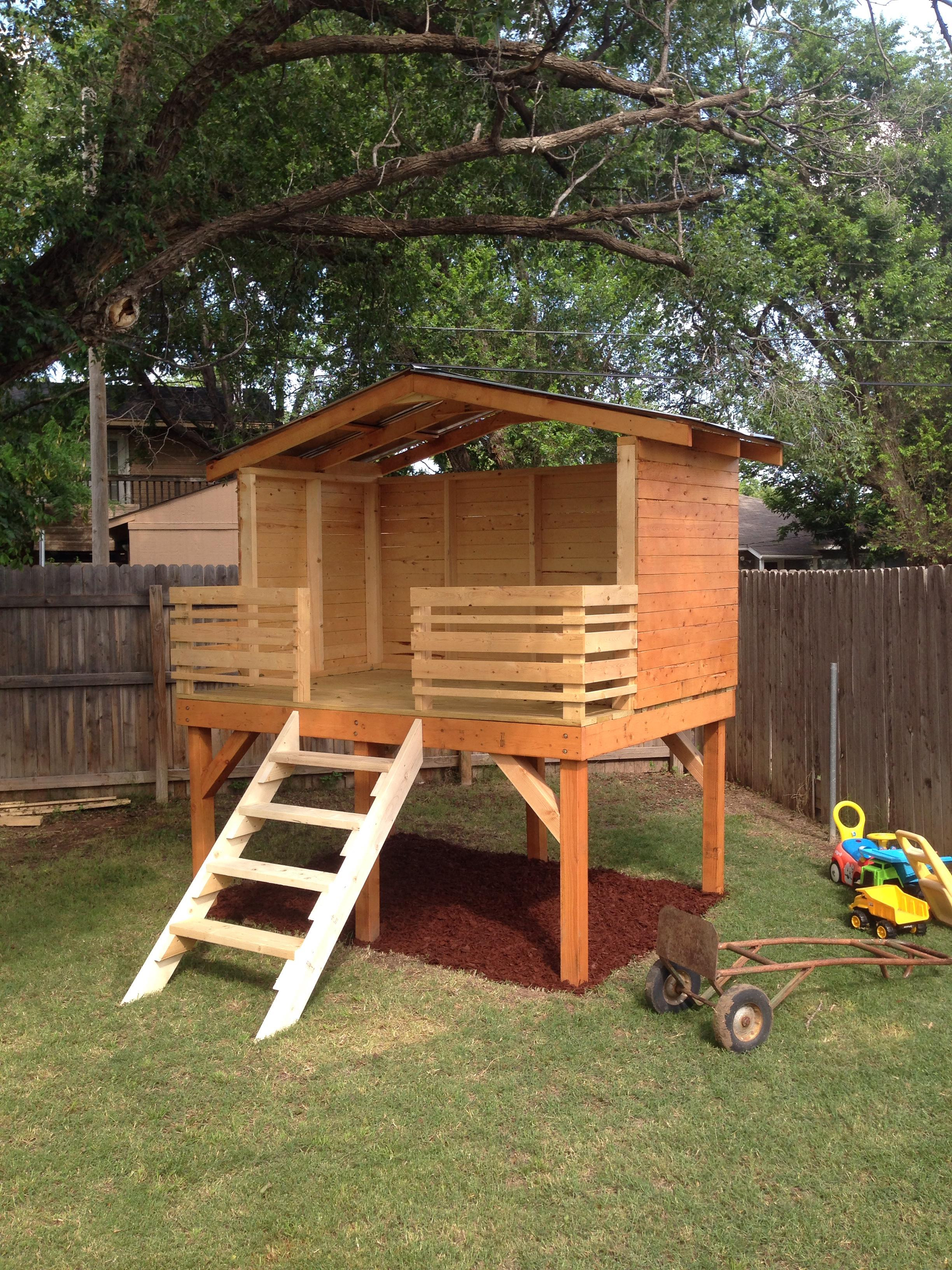 Best ideas about DIY Kids Forts . Save or Pin Dad Chronicles His DIY Backyard Fort Project Now.