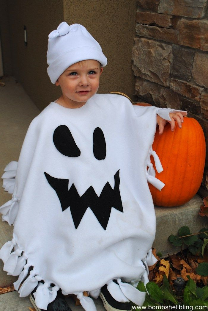Best ideas about DIY Kids Ghost Costume . Save or Pin No Sew Ghost Poncho Costume 1 Ghost Costumes Now.