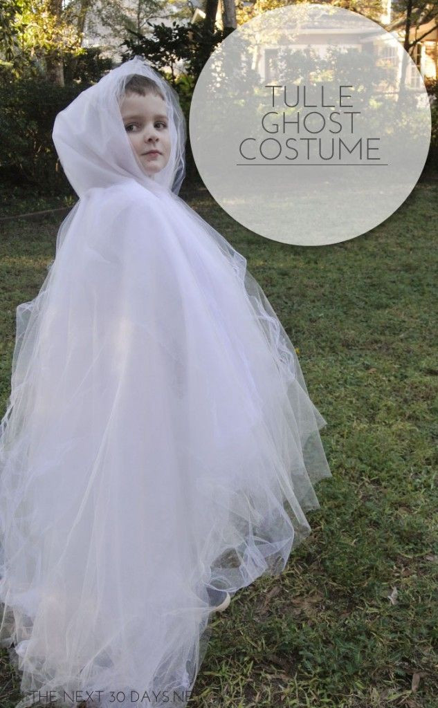 Best ideas about DIY Kids Ghost Costume . Save or Pin DIY Tulle Ghost Costume Now.