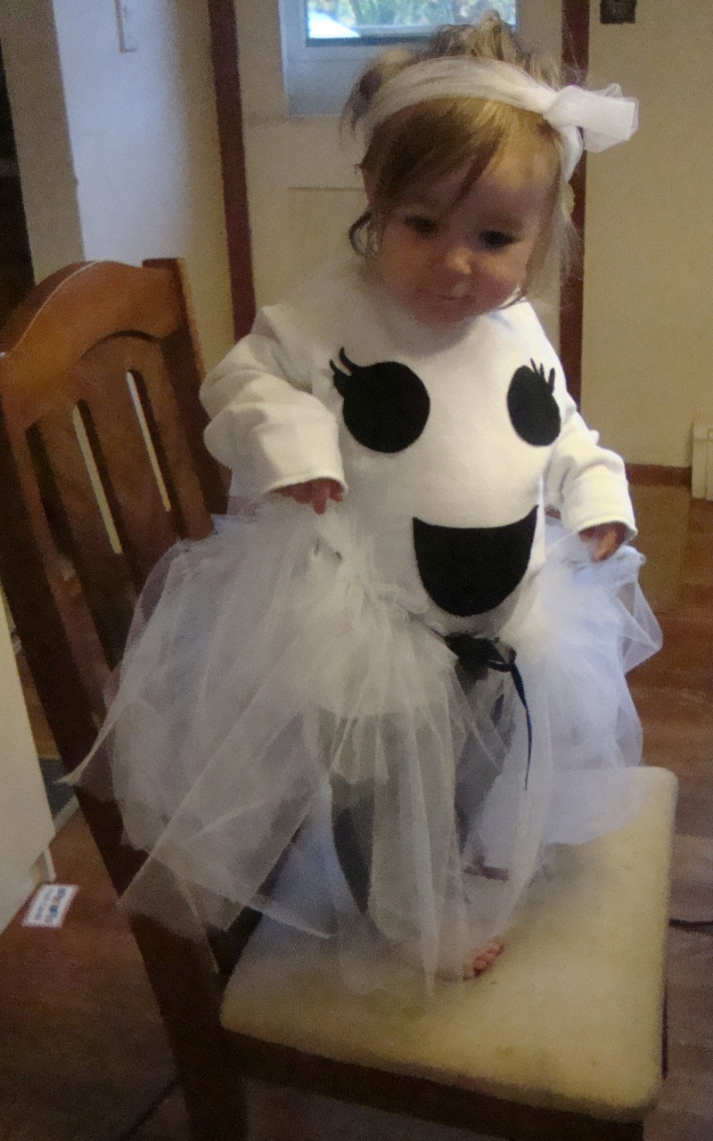 Best ideas about DIY Kids Ghost Costume . Save or Pin Make a Boo tiful DIY Ghost Costume and No Sew Tutu NY Now.