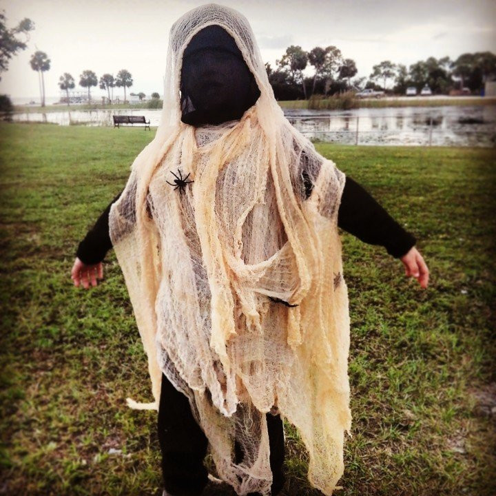 Best ideas about DIY Kids Ghost Costume . Save or Pin Cheesecloth Ghost Costume Now.