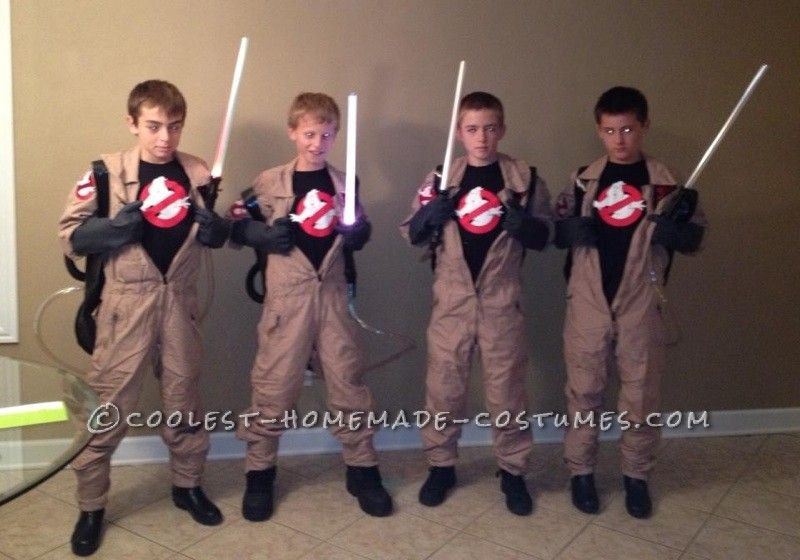 Best ideas about DIY Kids Ghostbuster Costume . Save or Pin Best Homemade Ghost Busters Group Halloween Costume Now.