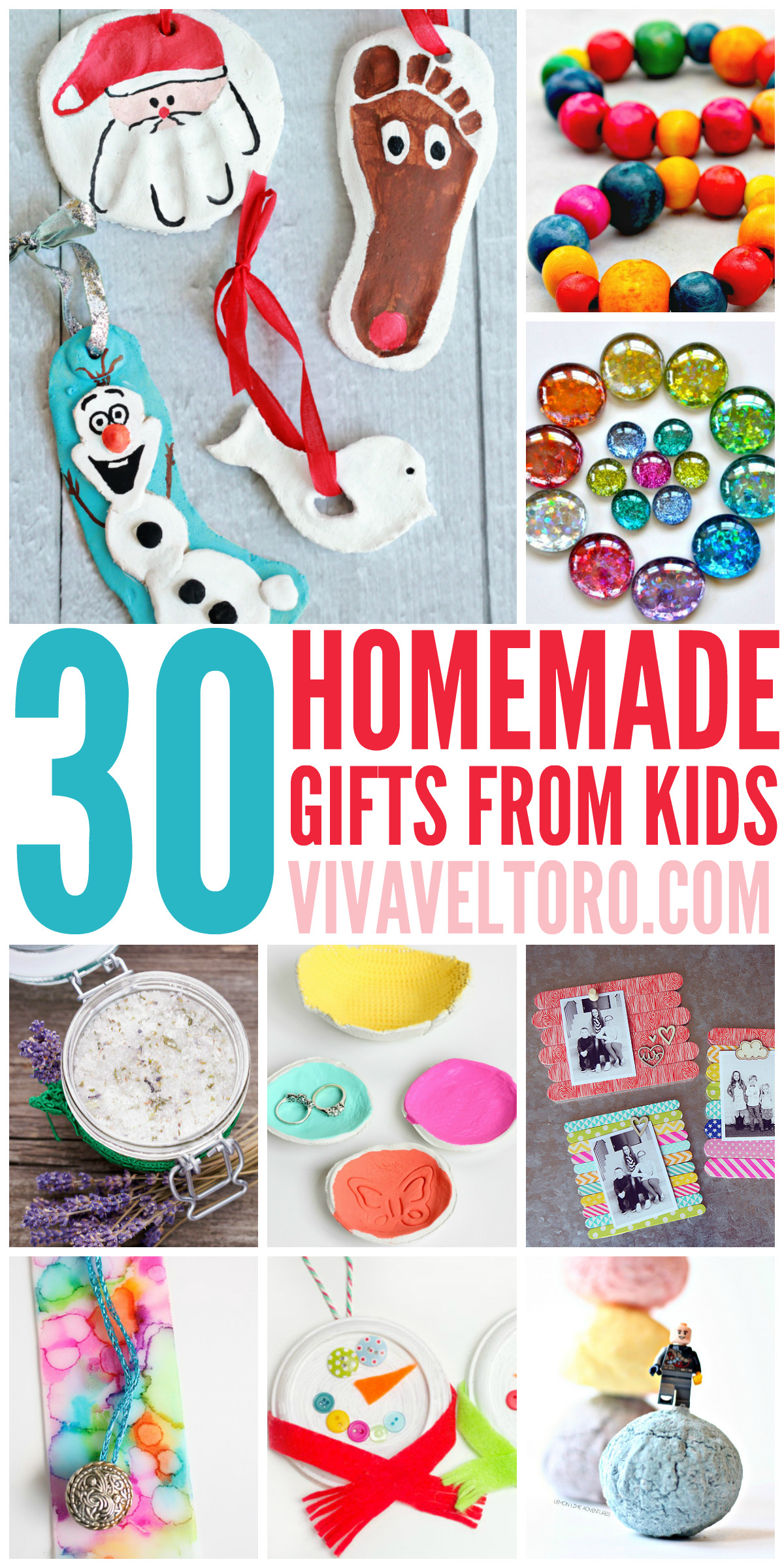 Best ideas about DIY Kids Gifts . Save or Pin This list of full of crafts and DIY homemade t ideas Now.