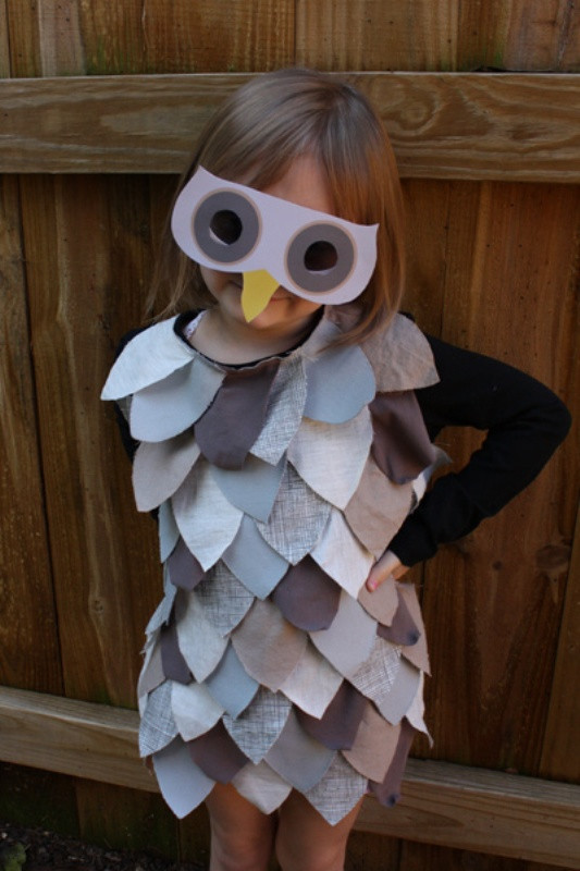 Best ideas about DIY Kids Halloween Costumes . Save or Pin DIY Last Minute Kids Owl Costume For Halloween Now.