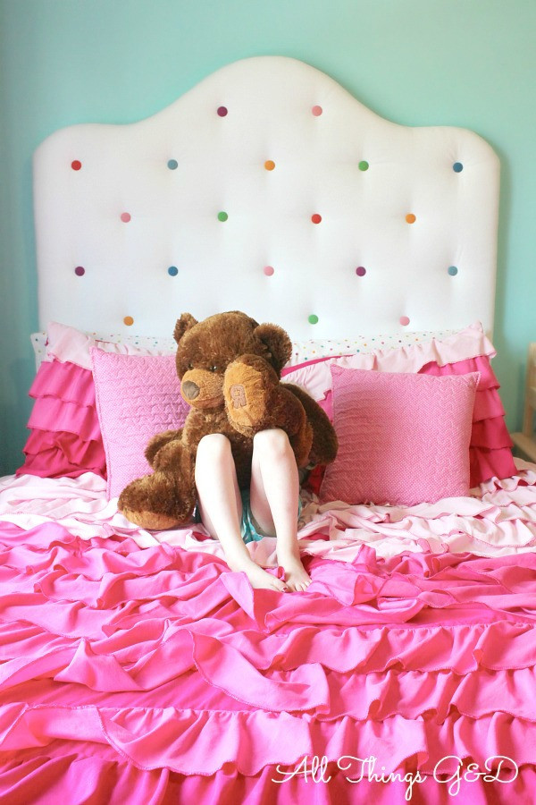 Best ideas about DIY Kids Headboard . Save or Pin Kate s DIY Polka Dot Headboard All Things G&D Now.
