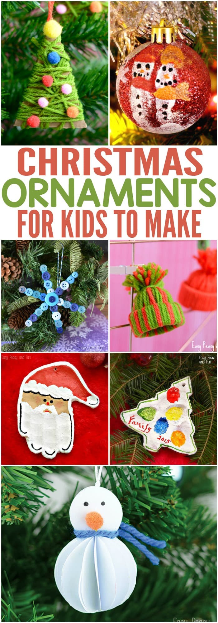 Best ideas about DIY Kids Ornaments . Save or Pin Jolly DIY Christmas Ornaments Ideas Homemade Memories Now.