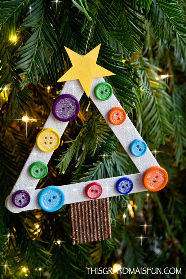 Best ideas about DIY Kids Ornaments . Save or Pin DIY Kids Craft Stick Christmas Tree Ornament TGIF This Now.