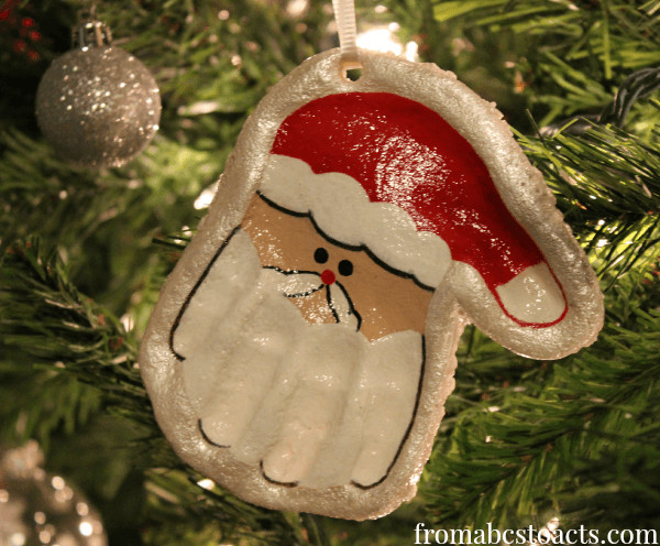 Best ideas about DIY Kids Ornaments . Save or Pin Hand Print Santa Keepsake Ornament Now.