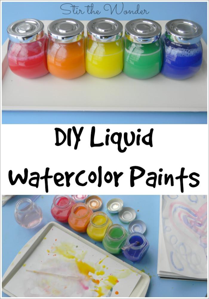 Best ideas about DIY Kids Paint . Save or Pin DIY Liquid Watercolor Paint Now.