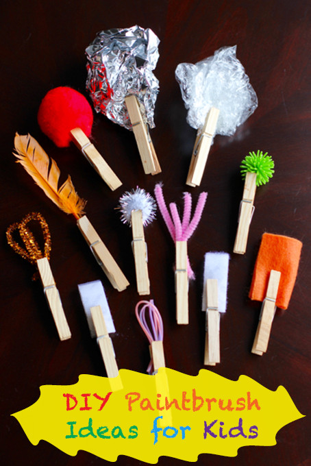 Best ideas about DIY Kids Paint . Save or Pin DIY Paintbrushes for Kids Crafts Now.