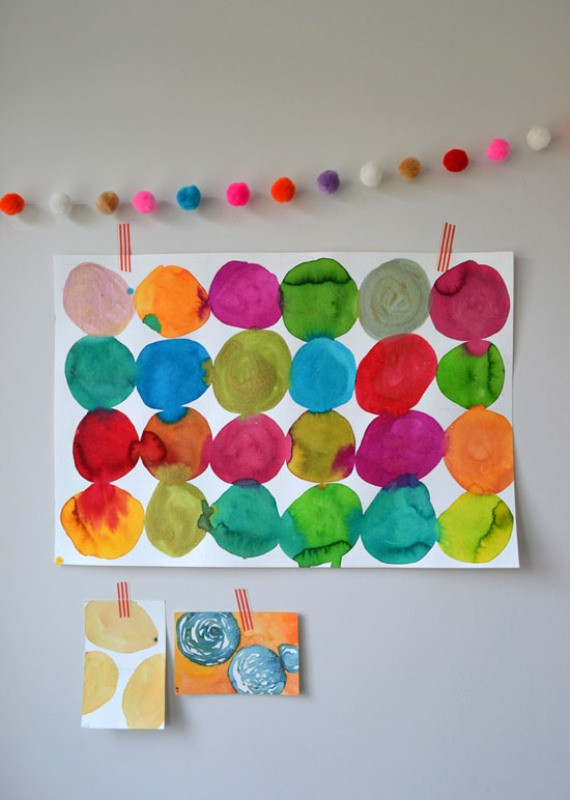 Best ideas about DIY Kids Paint . Save or Pin Funny DIY For Kids Watercolor Circle Paintings Now.