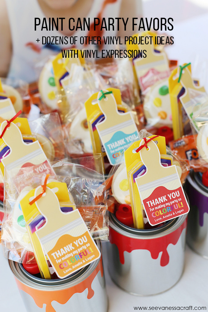 Best ideas about DIY Kids Painting Party . Save or Pin Craft Paint Can Party Favor Now.