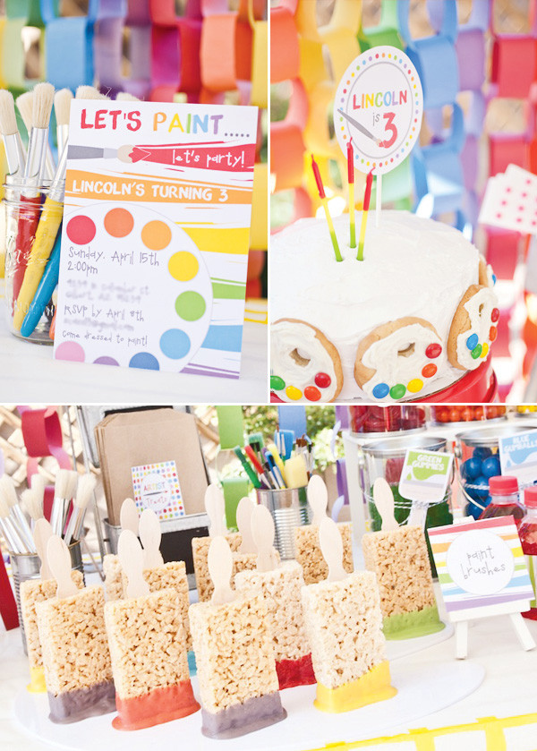 Best ideas about DIY Kids Painting Party . Save or Pin Birthday Party Rainbow Paint Party in the know mom Now.