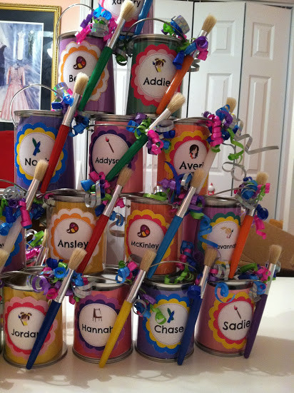 Best ideas about DIY Kids Painting Party . Save or Pin Pinkie and The Bean DIY Art Party Paint Can Favors Now.