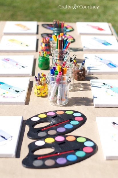 Best ideas about DIY Kids Painting Party . Save or Pin Easy DIY Kids Art Themed Birthday Party Now.