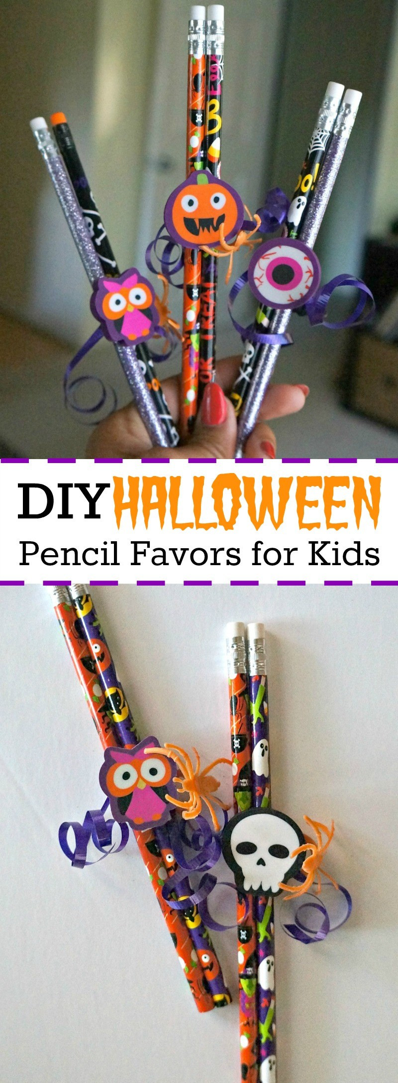 Best ideas about DIY Kids Party Favors . Save or Pin DIY Halloween Pencil Party Favors for Kids No Candy Now.