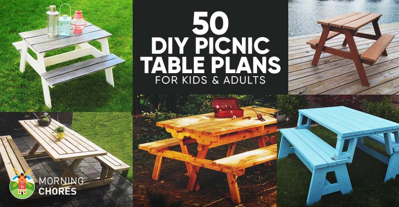 Best ideas about DIY Kids Picnic Table . Save or Pin 50 Free DIY Picnic Table Plans for Kids and Adults Now.