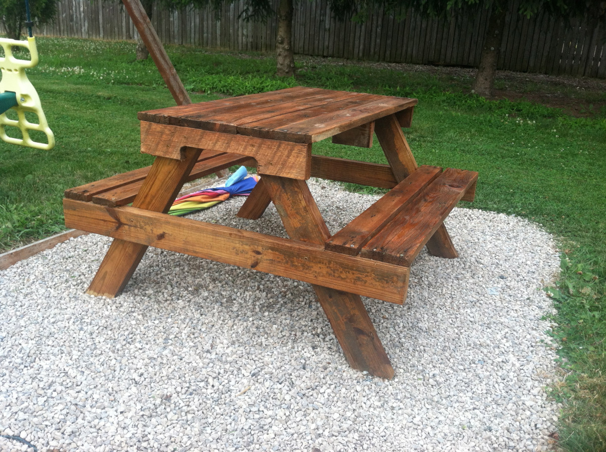 Best ideas about DIY Kids Picnic Table . Save or Pin DIY Kids Picnic Table from Pallet Wood Now.