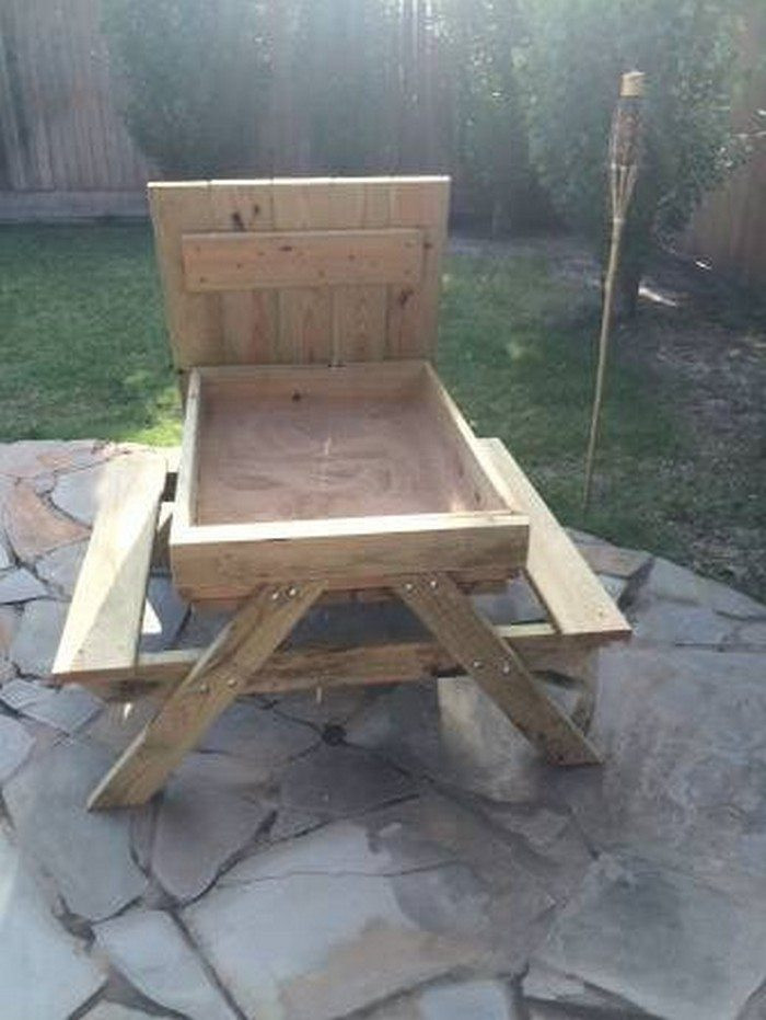 Best ideas about DIY Kids Picnic Table . Save or Pin How to build a kids picnic table and sandbox bo Now.