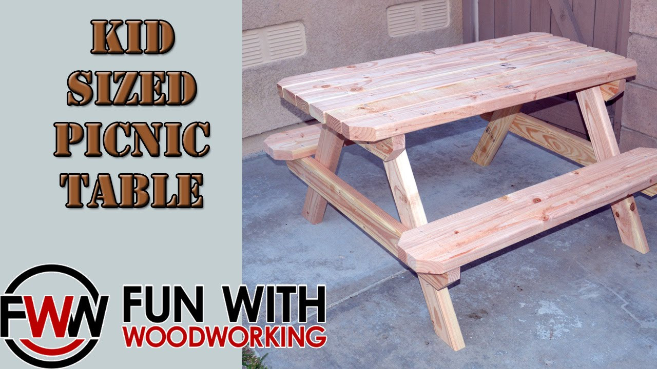 Best ideas about DIY Kids Picnic Table . Save or Pin Project How to build a kid sized picnic table out of 8 Now.